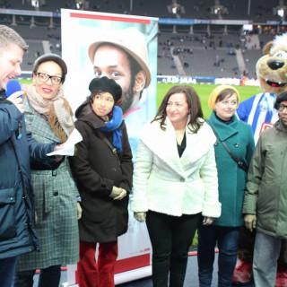 Im Interview mit Stadionsprecher Fabian von Wachsmann