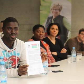 Teilnehmer am Projekt freuen sich über die Unterstützung