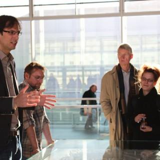 Führung durch die Topographie des Terrors-Ausstellung im Anschluß an die Respekt-gewinnt-Preisverleihung 2011
