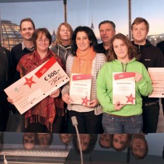 """Champions ohne Grenzen, die interkulturellen Stadtführungen """"Route 44"""" und """"(Zweite) Heimat Neukölln"""" haben dieses Jahr den 3. Preis gewonnen."""