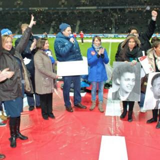 Respekt-gewinnt-Preisverleihung 1. Preis, Olympiastadion, 2012, vor dem 2. Bundesligaspiel von Hertha BSC gegen 1. FC Köln