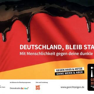 """Kampagnenplakat """"Deutschland bleib stark!"""" des Vereins """"Gesicht zeigen!"""""""