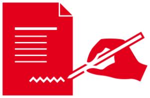 Symbol zeigt das Unterzeichnen der Berliner Verpflichtung