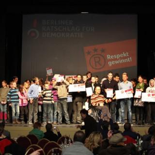 """""""Respekt gewinnt!""""-Gala 2010 mit Prämierung der besten Projekte"""