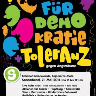 Fest für Demokratie, am 21. Mai 2011, am S-Bhf. Schöneweide