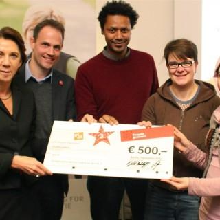 »Respekt gewinnt!« Sonderpreisverleihung 2012 bei der BSR an »Juga«