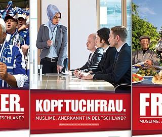 """Kampagne: """"Muslime. Anerkannt in Deutschland?"""" der Teilnehmer/innen des  Projekts JUMA-jung, muslimisch, aktiv"""