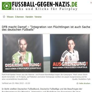 Fussball-gegen-Nazis.de – Kicks und Klicks für Fairplay