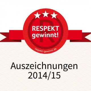 """Preise beim """"Respekt gewinnt!"""" Wettbewerb 2014/2015 – Die Jury hat entschieden"""