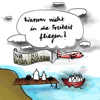Warum kommen die Flüchtlinge nicht einfach mit dem Flugzeug?