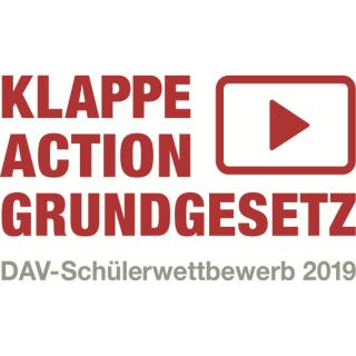 """Macht mit – """"Klappe – Action – Grundgesetz""""! – Der DAV-Schülerwettbewerb 2018/2019"""